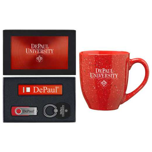 SET-A2-DEPAUL-RED: LXG Set A2 Tech Mug, DePaul
